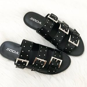 Shoes - Studded Belt Sandals